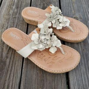 Born Floral Wedge Sandals Sz 7